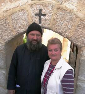 Man Sf Sava, Parintele Zosima si Gabriela Baddour. Doi romani in Pustiul Iudeii